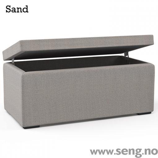 Ekens ottoman kiste sengeboks Sand