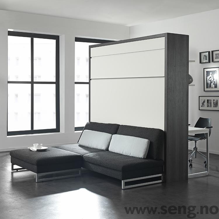 LOFT skapseng - romdeler med sofa og skrivebord
