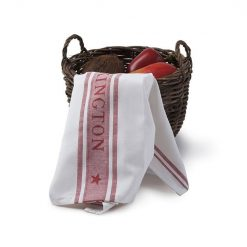 Kjøkkenhåndkle ''Star'' White/Red fra Lexington Company