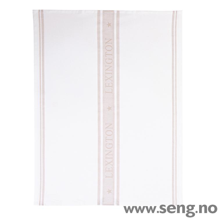 Kjøkkenhåndkle ''Star'' White/Beige