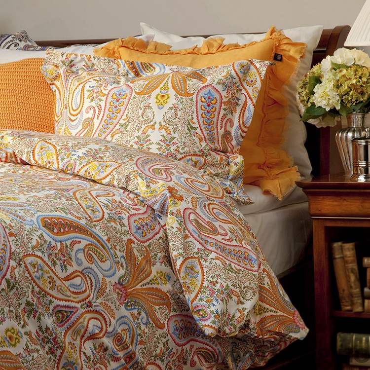 Hotellputetrekk 70x100cm gant key west paisley papaya for Stile key west