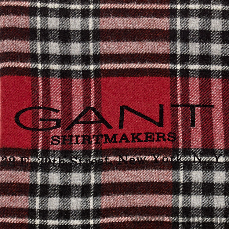 Pledd ''Shirtmakers'' Dark Red