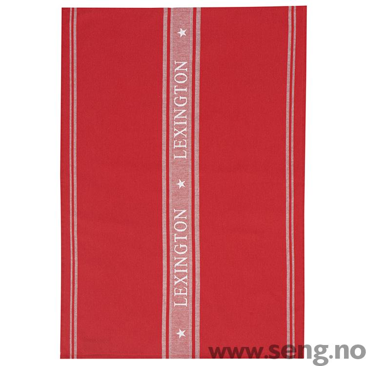 Lexington kjøkkenhåndkle ''Star'' Red/Gray