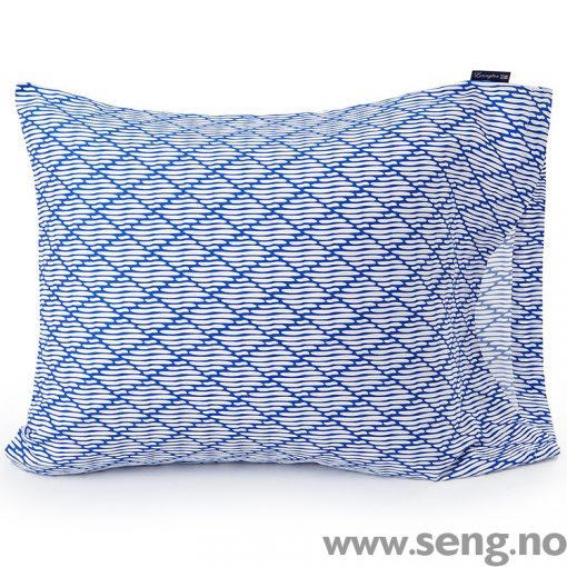 Lexington Blue Printed Sateen