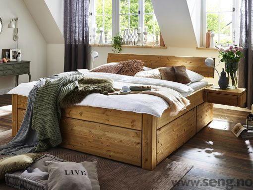 Tjörnbo seng med skuffer - skuffeseng