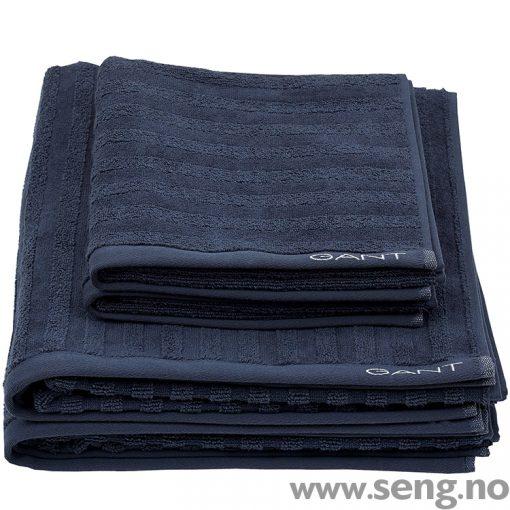 Gant Håndkle Line 431 Sateen Blue