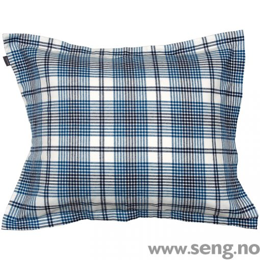 Gant Home Flannel Check Salty Sea pillow