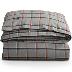 Lexington Checked Flannel Gray White Rust Check
