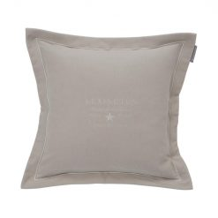 Lexington Putetrekk Hotel Embroidery Velvet Sham Beige