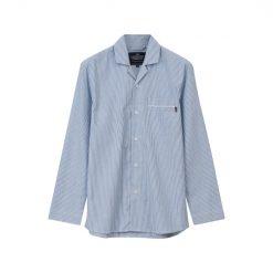 Lexington Pyjamas Organic Blå Skjorte