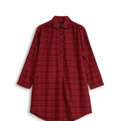 Lexington holiday women nattskjorte checked flannel red front