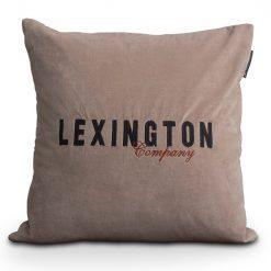 Lexington Putetrekk Logo Velvet Sham Beige