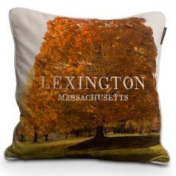 Lexington Putetrekk Tree Velvet Sham white fall