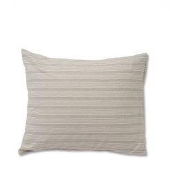 Putetrekk ''Striped Cotton Linen'' Lt. Gray fra Lexington Company 50x70 cm