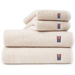 Håndkle ''Original White Tan Striped'' fra Lexington Company
