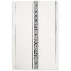 Kjøkkenhåndkle ''Icons Cotton Jacquard Star'' Hvit/Svart fra Lexington Company